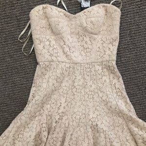 Unworn BCBG fit and flare lace dress